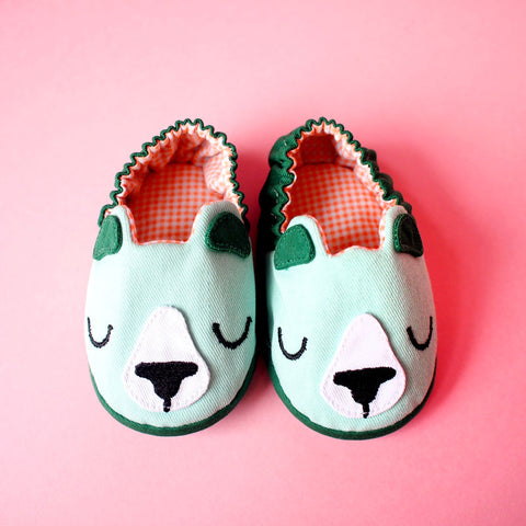 Baby Booties - Forest Honey Bear #04