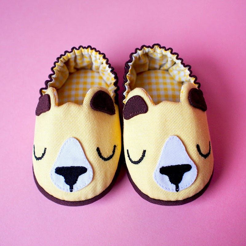 Baby Booties - Forest Honey Bear #05