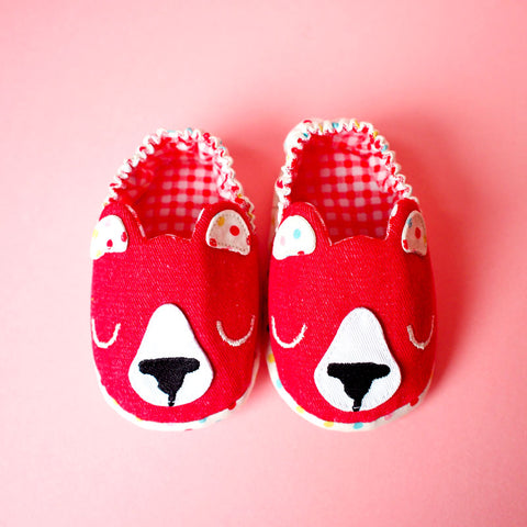 Baby Booties - Forest Honey Bear #06