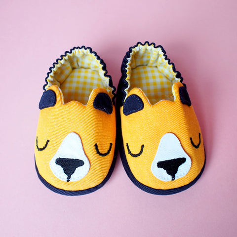 Baby Booties - Forest Honey Bear #07
