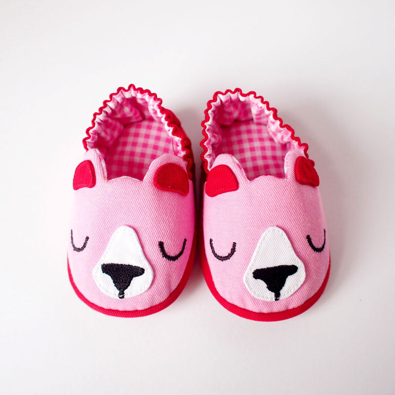 Baby Booties - Forest Honey Bear #08