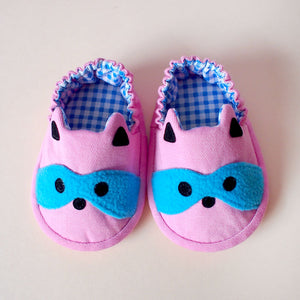 Baby Booties - Bandit Raccoon #01