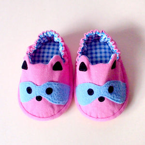 Baby Booties - Bandit Raccoon #02