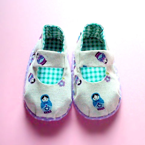 Baby Booties - MaryJanes (Matryoshka Doll)