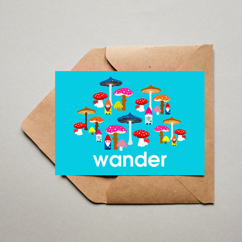 Blank Greeting Card - Wander Mushroom Wonderland