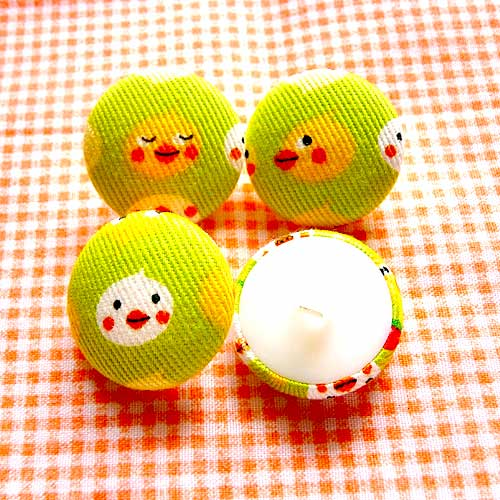 Fabric Buttons - Cheeky Chicks