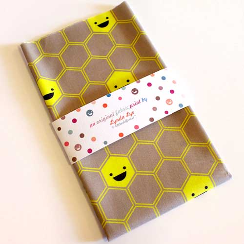 Fat Quarter Fabric - Happy Honeycomb