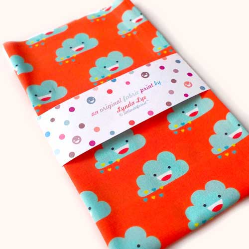 Fat Quarter Fabric - Happy Love Clouds