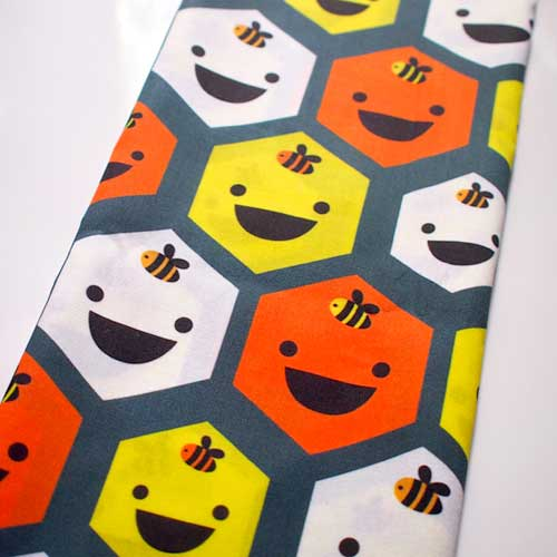 Fat Quarter Fabric - Honeycomb Bees