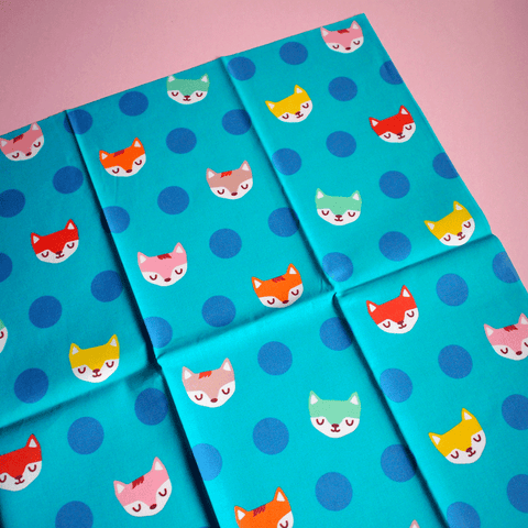 Fat Quarter Fabric - Dotty Fantastic Foxes