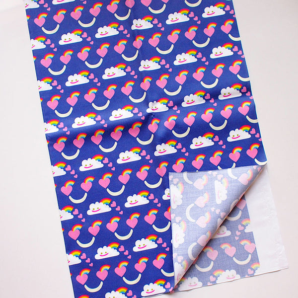 Fat Quarter Fabric - Rainbow Power Clouds