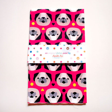Fat Quarter Fabric - Pug Lovers