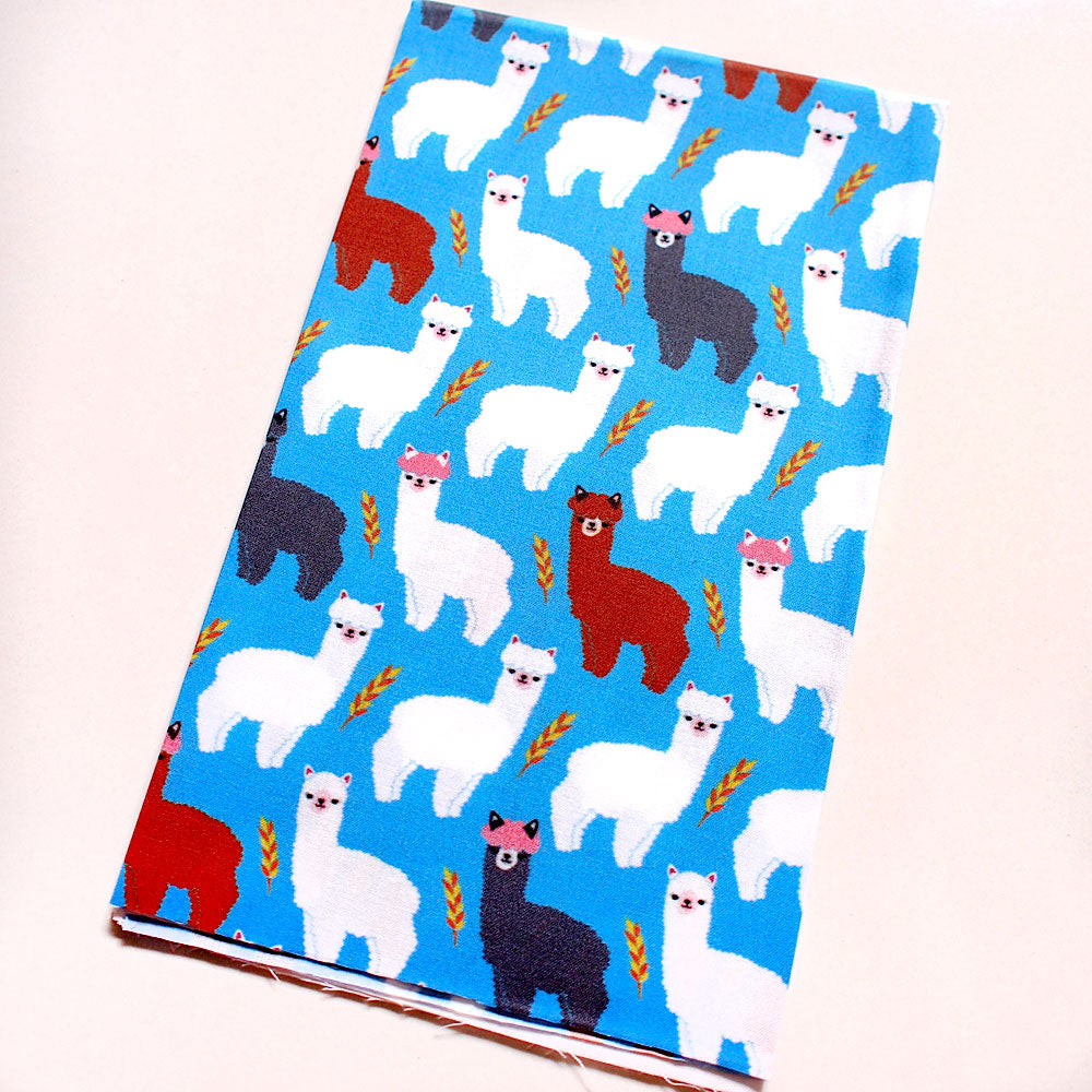 Fat Quarter Fabric - The Alpacas With Pink Hair