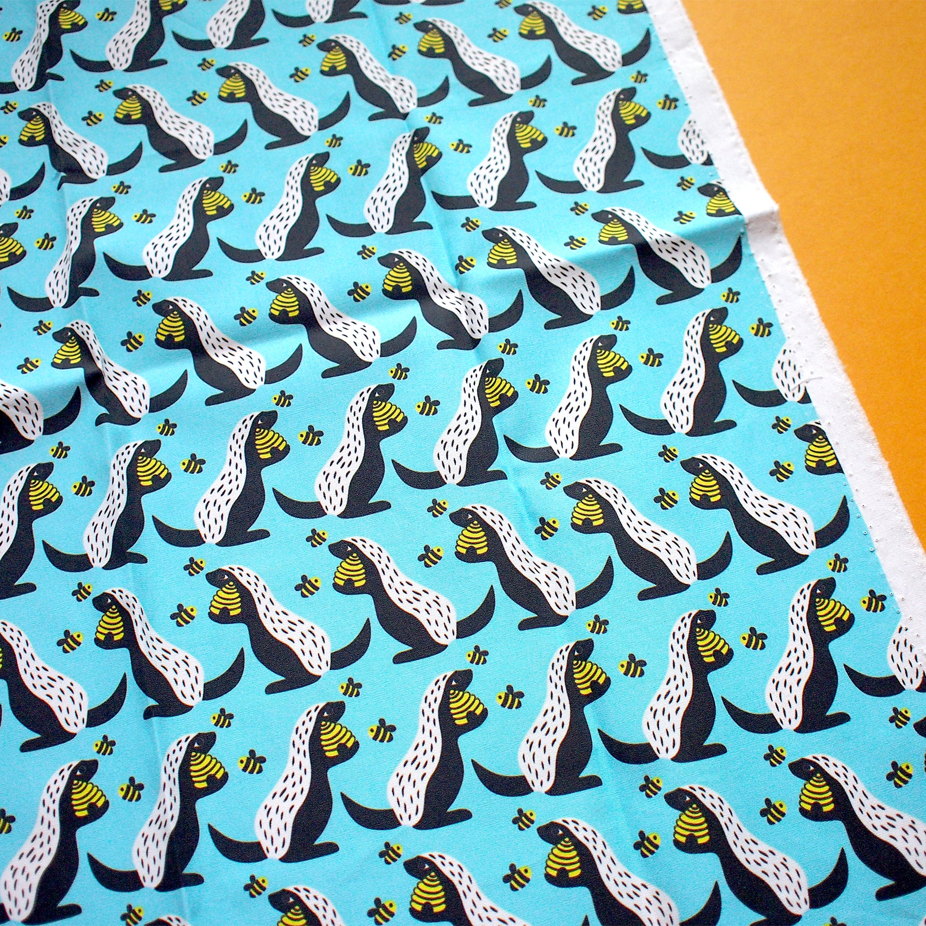 Fat Quarter Fabric - Honey Badgers Love Honey