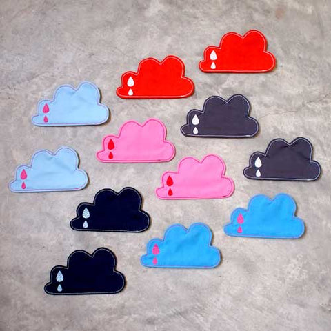 Coasters Set (Pair) - Rain Clouds (5 Colors)