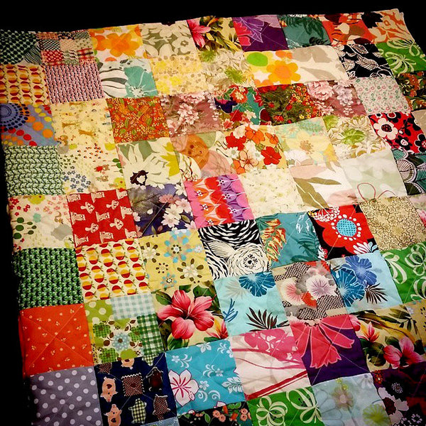 Quilt Blanket - Zero Waste/ Up-Cycle/ Sustainable Practices