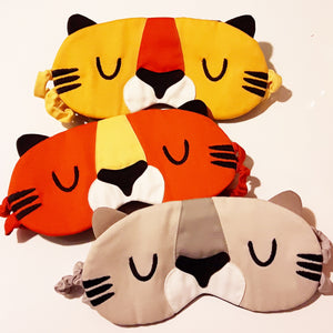 Sleep Eye Mask - Tabby Tiger (3 Colors)