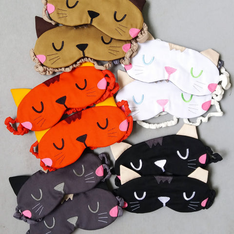 Sleep Eye Mask - Ear Tipped Kitty Cat (5 Colors)
