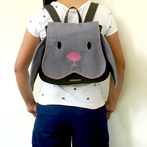 Backpack - Chubby Bunny (Gray Olive)