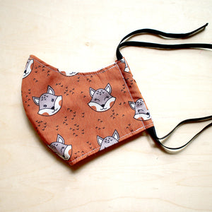 Face Mask (Pocket Insert) - Foxes (Brown)