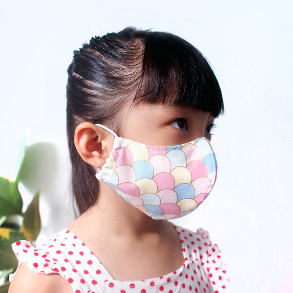 Face Mask (Pocket Insert) KIDS SIZE - Mermaid Scales