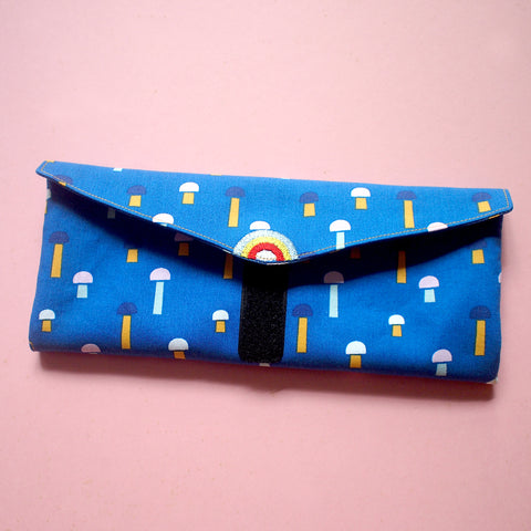 Utensils Pouch (2 Compartments) - Over The Rainbow (Mushroom Blues)