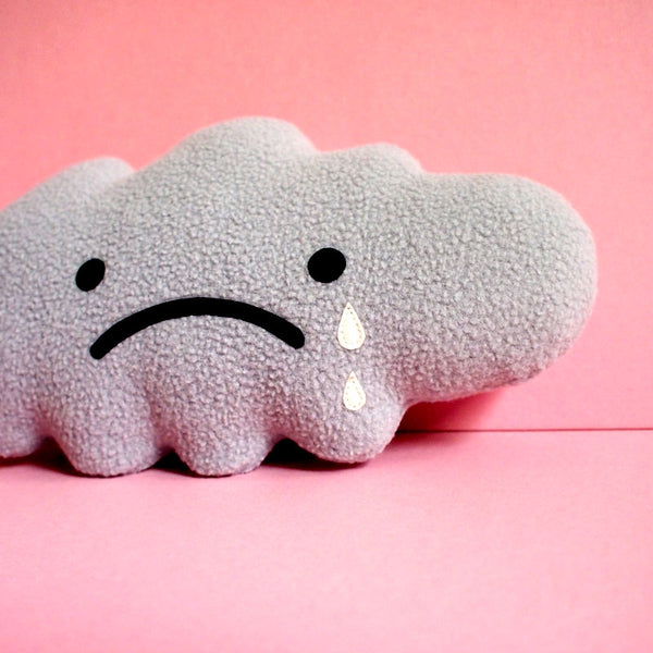 Plush Toy - Sad Gray Cloud (Smaller)