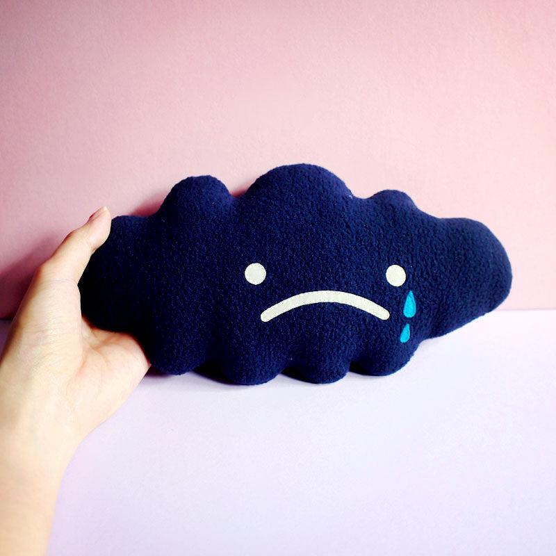 Plush Toy - Sad Dark Cloud (Smaller)