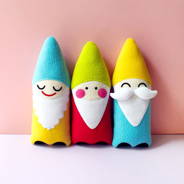 Plush Toy - Moustache Gnome Friend (Smaller - 2 Colors)