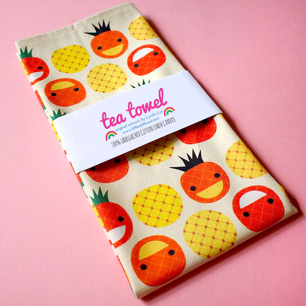 Tea Towel - The Happy Pineapples (Singapore Series)