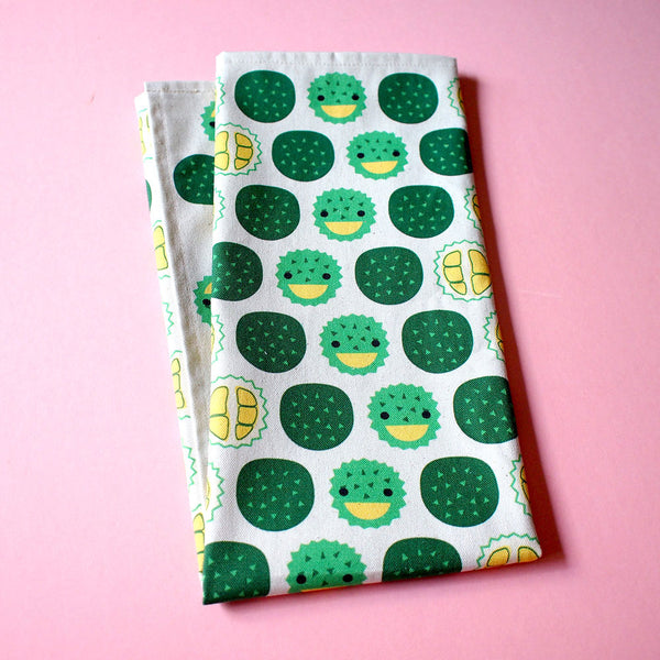 Tea Towel - The Happy Durians (Singapore Series)