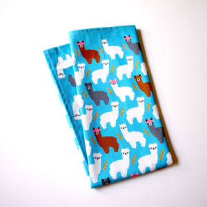 Tea Towel - Amigo Alpacas (Blue)