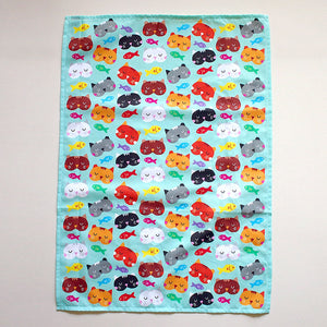 Tea Towel - Cats Love Fish
