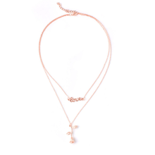 Load image into Gallery viewer, Blush Hanging Rose Necklace
