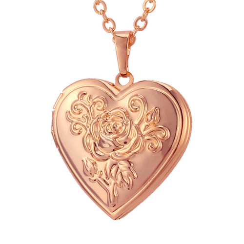 Blush Lover's Locket Necklace