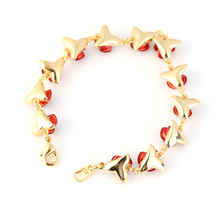Load image into Gallery viewer, Gold Dozen Roses Bracelet