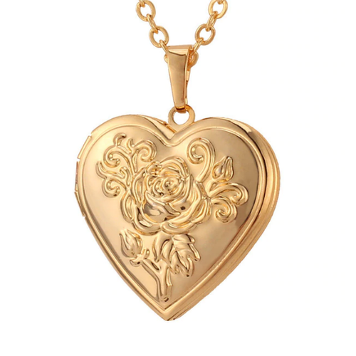 Gold Lover's Locket Necklace