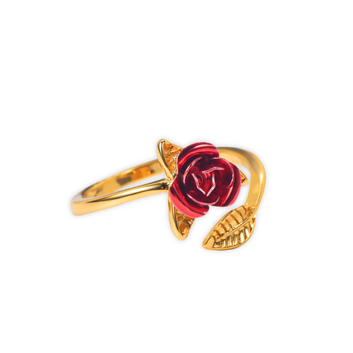 Gold True Love Rose Ring