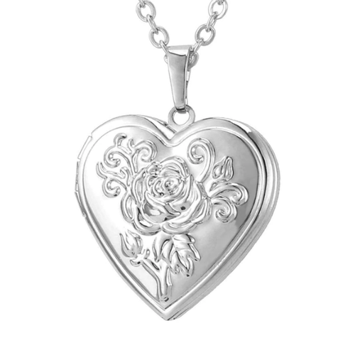 Silver Lover's Locket Necklace