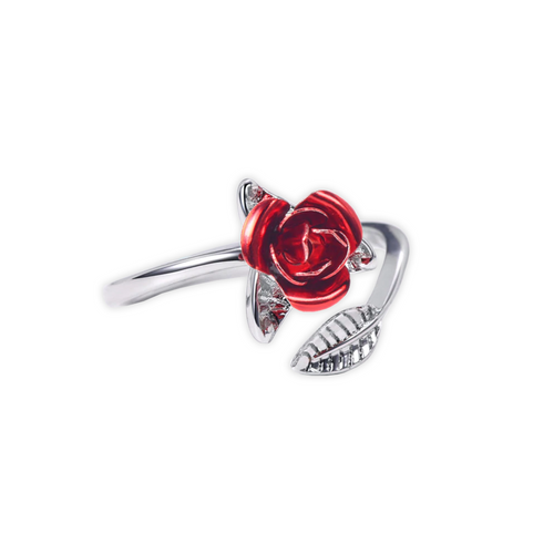 Silver True Love Rose Ring