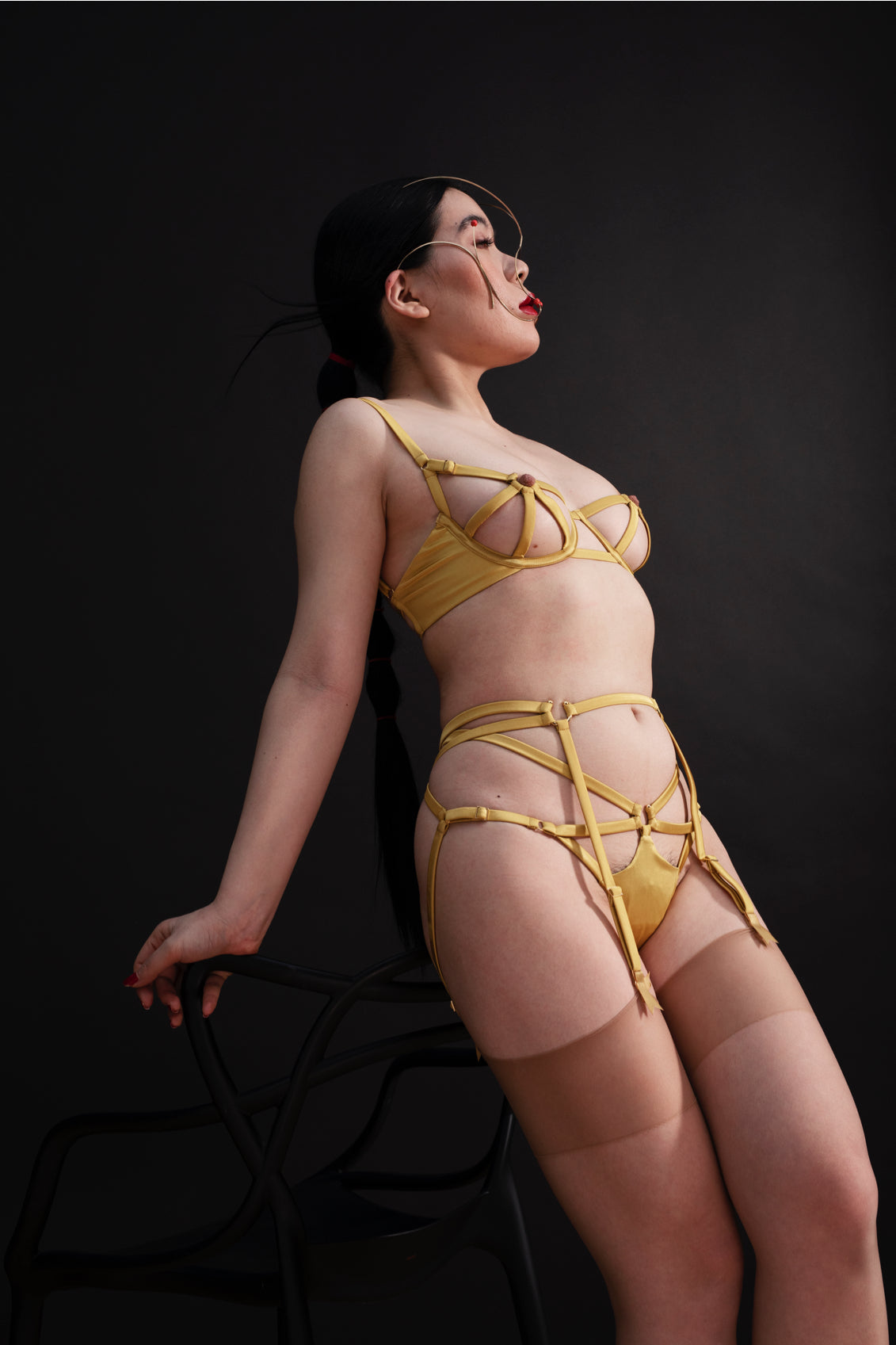 Studio Pia AW20 Clea Set, made from golden silk