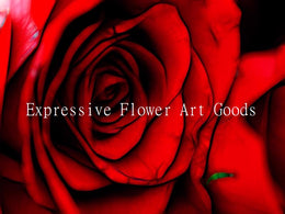 expressive flower art goods
