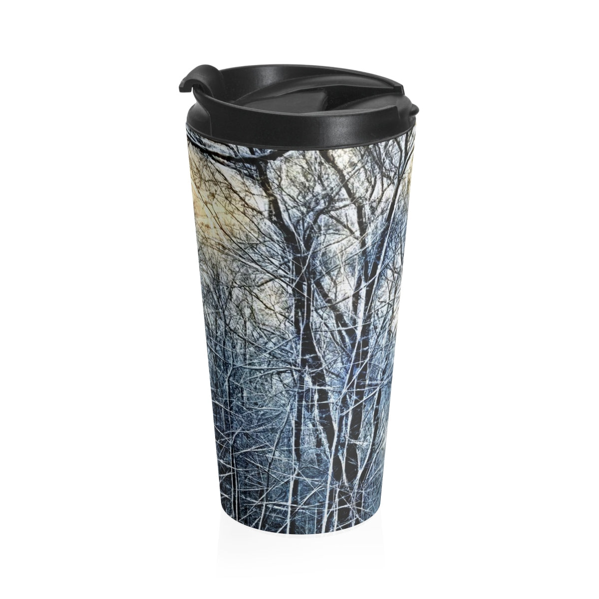 Winter Landscape Stainless Steel Travel Mug