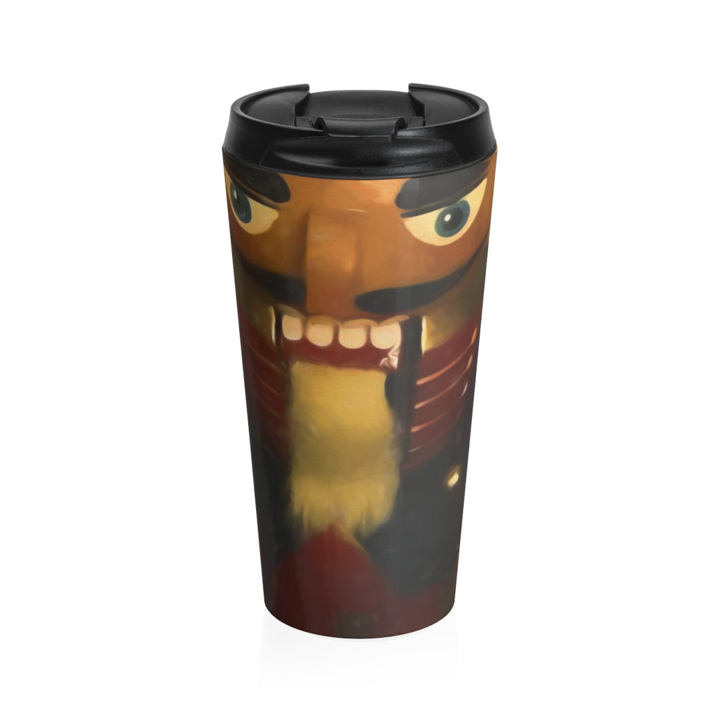 Tall Nutcracker Stainless Steel Travel Mug