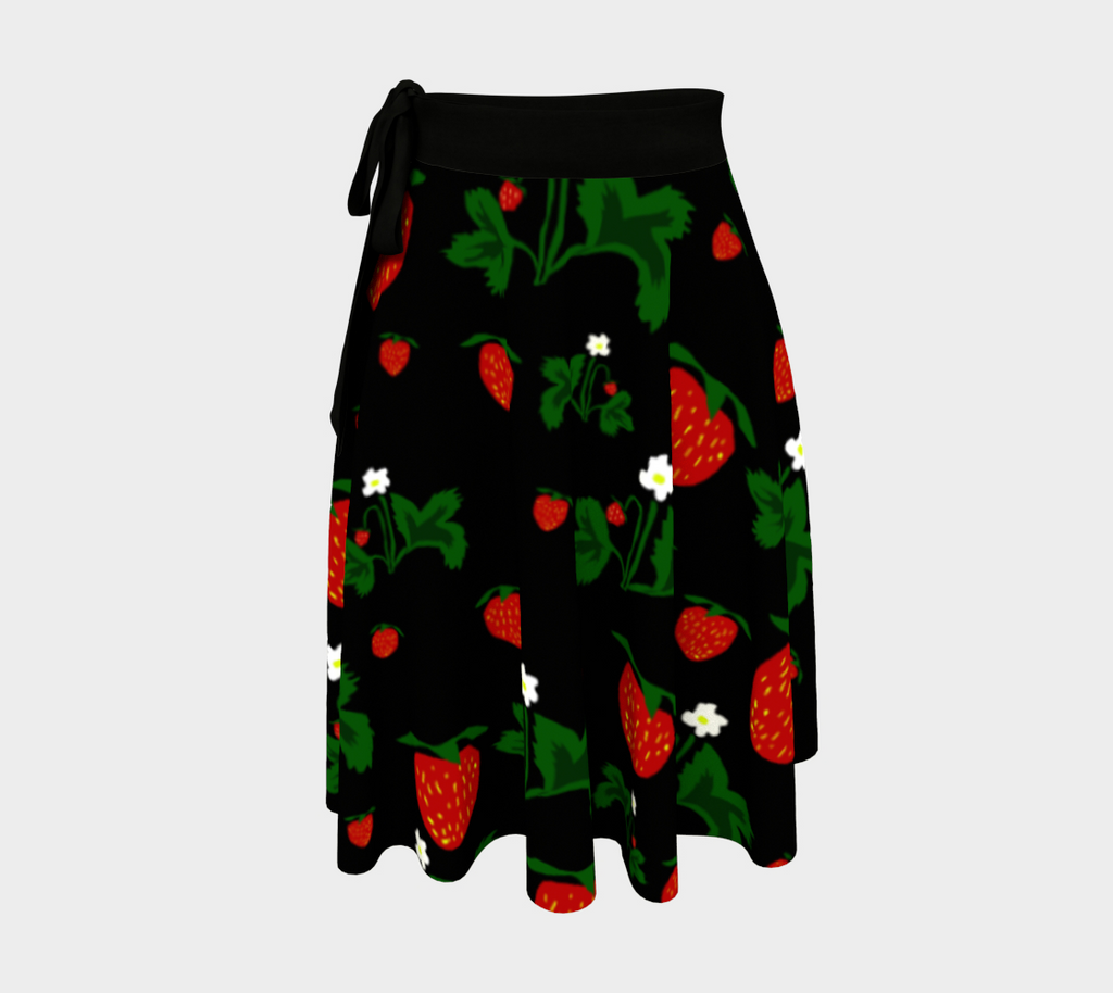 Wild Strawberries Wrap Skirt