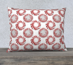Peppermint Candy Dots Pillow Case