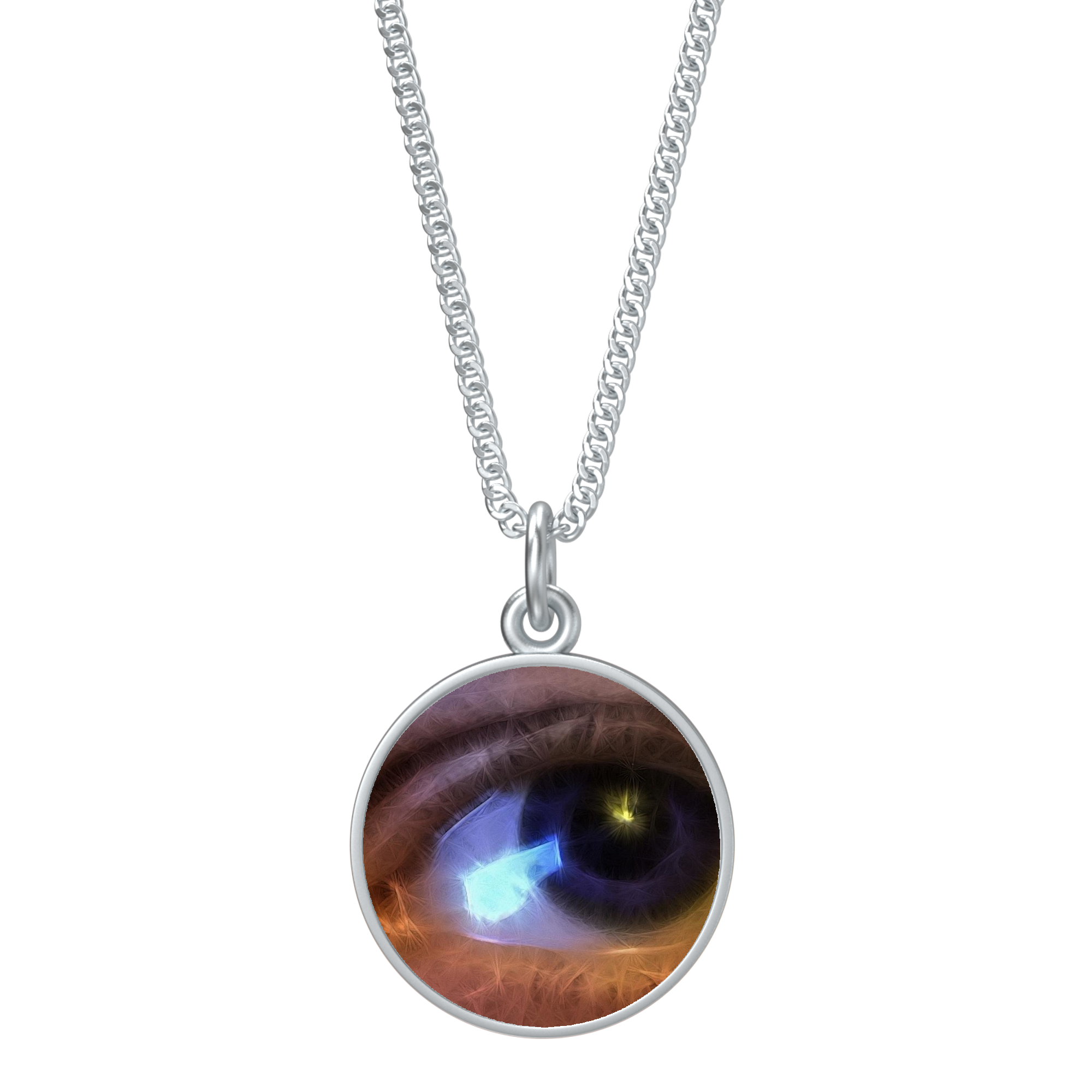 Eye of The Artist Round Pendant Necklace