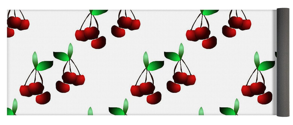 Cherries Pattern - Yoga Mat