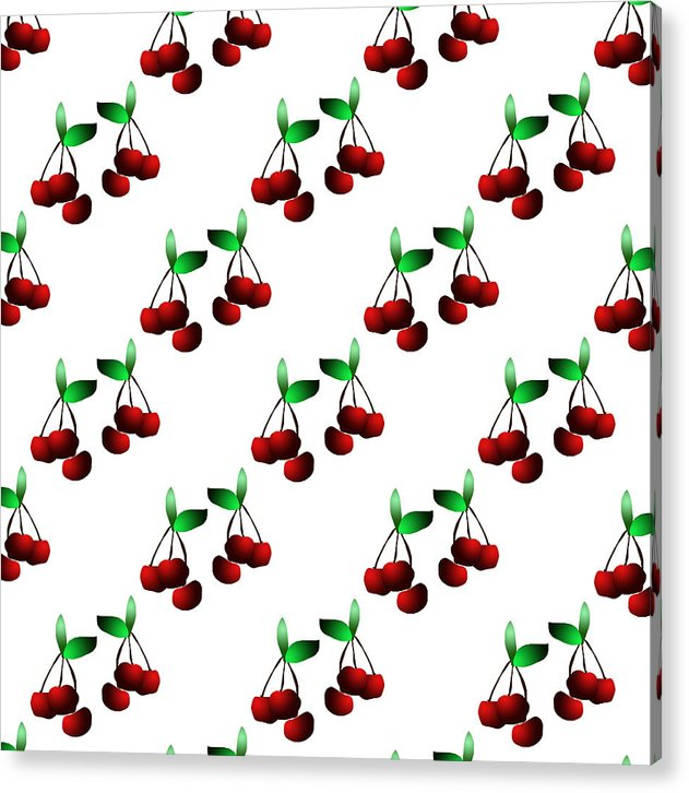 Cherries Pattern - Acrylic Print