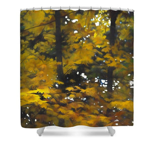 Fall Yellow Trees - Shower Curtain - expressive-flower-art-goods.myshopify.com